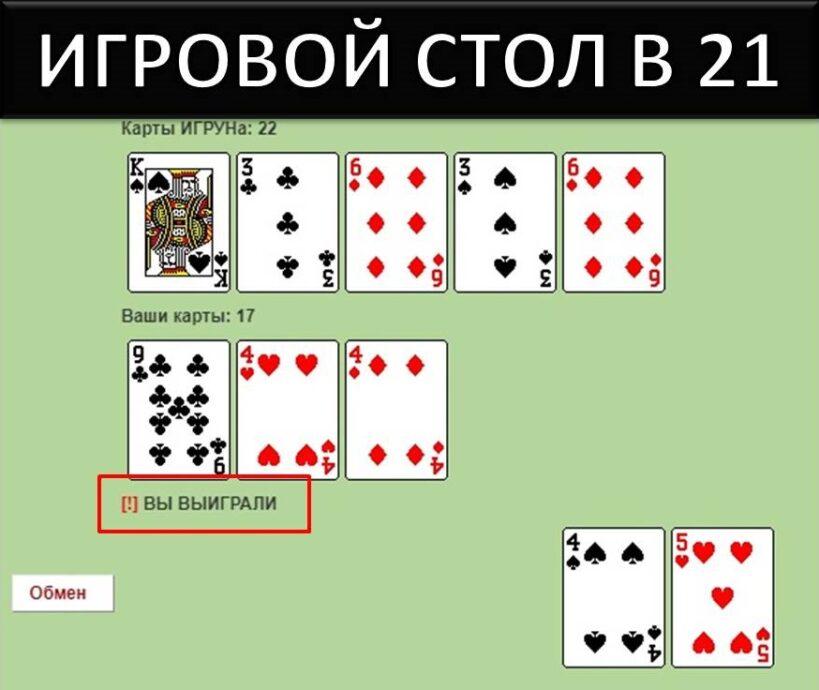 карты очко онлайн играть в в игру 21