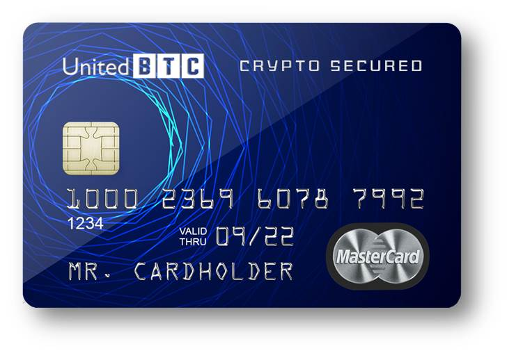 Карта UBB Secured Crypto Card