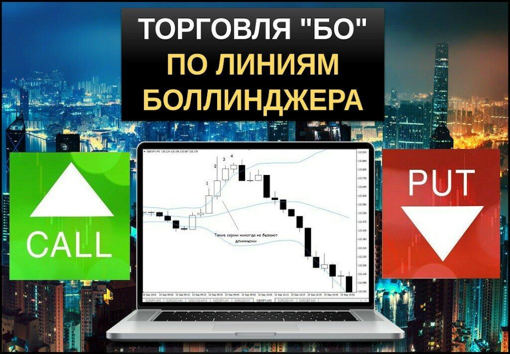 Торговля бинарными опционами по линиям боллинджера